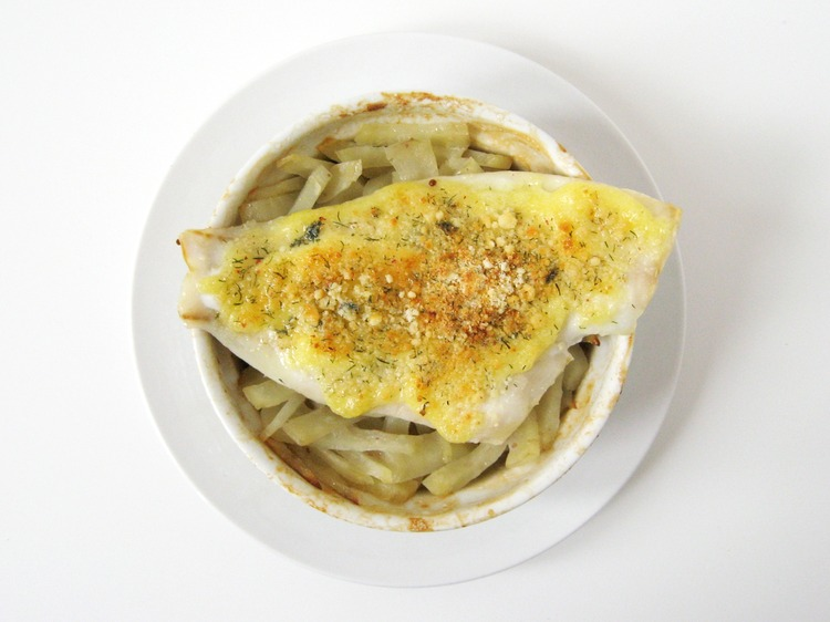 IMG 9326 Parmesan Crusted Flounder With Baked Matchstick Potatoes Recipe