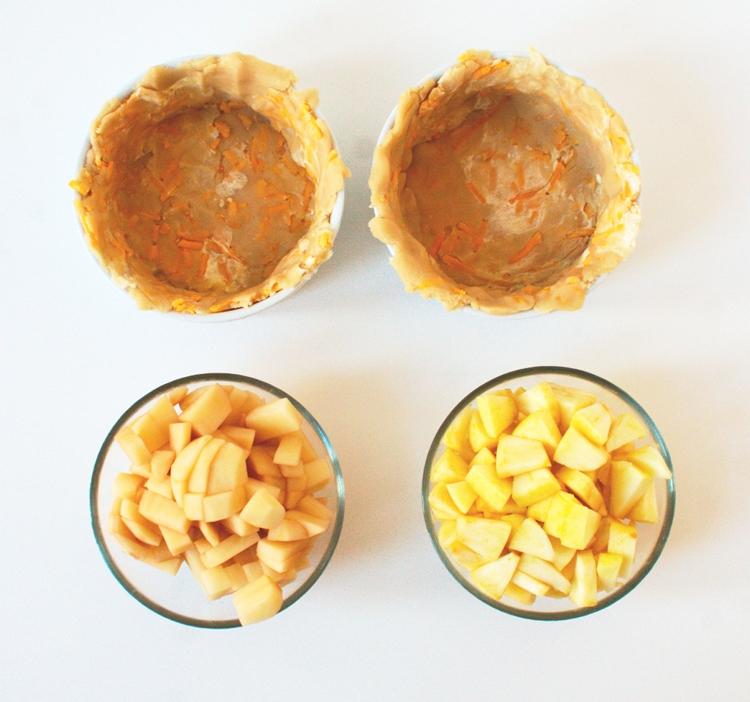 014crop Savory Ham Potato and Apple Pie