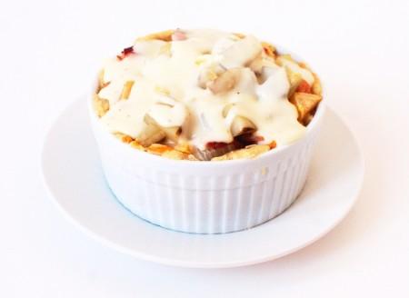 Savory Ham Potato and Apple Pie